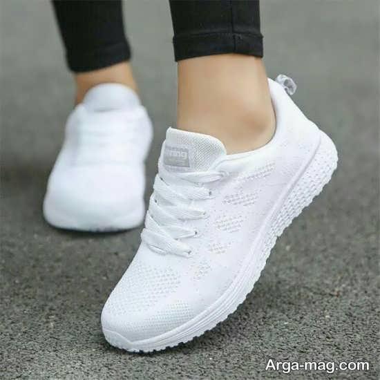 انواع جالب مدل کفش سفید دخترانه