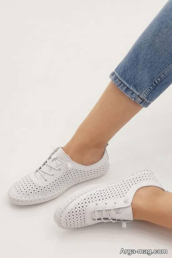 انواع کفش دخترانه سفید