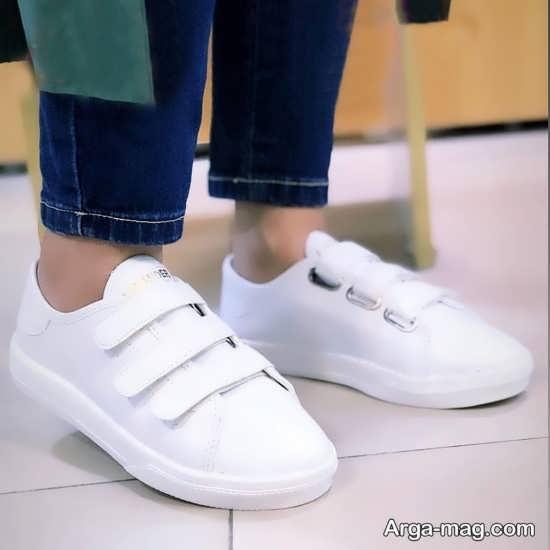مدل کفش سفید دخترانه جذاب