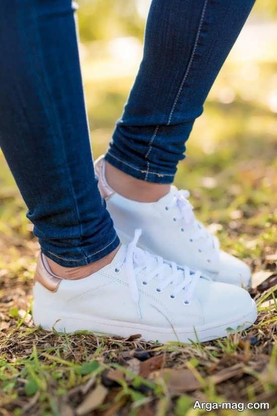 کفش سفید اسپرت زنانه