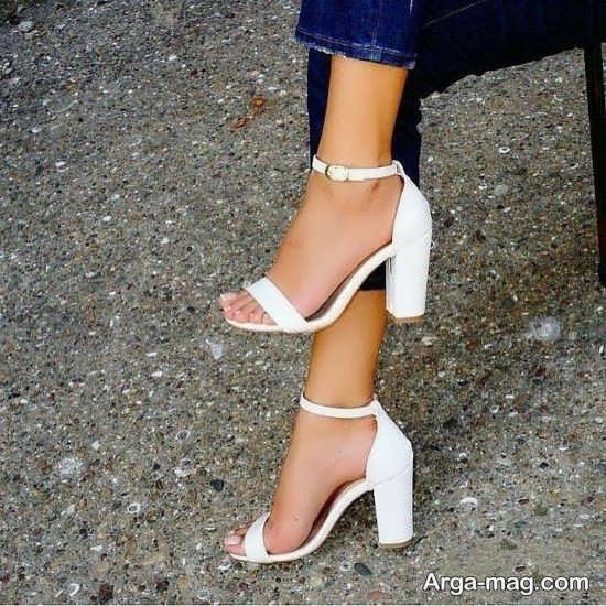 مدل کفش سفید مجلسی