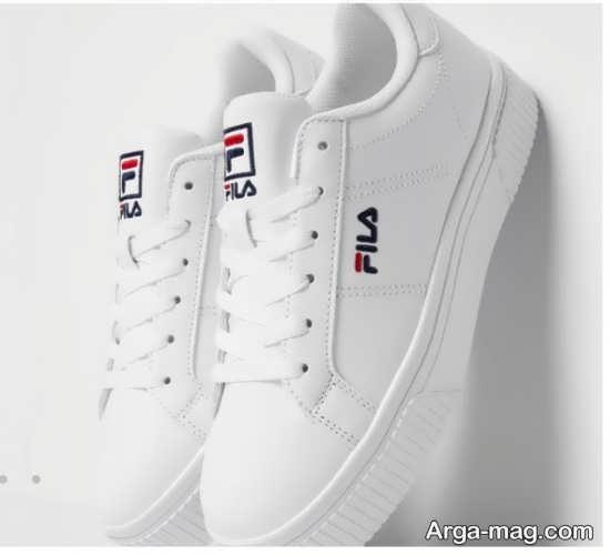 نمونه کفش اسپرت سفید رنگ