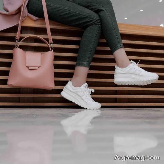 مدل کفش سفید دخترانه باحال