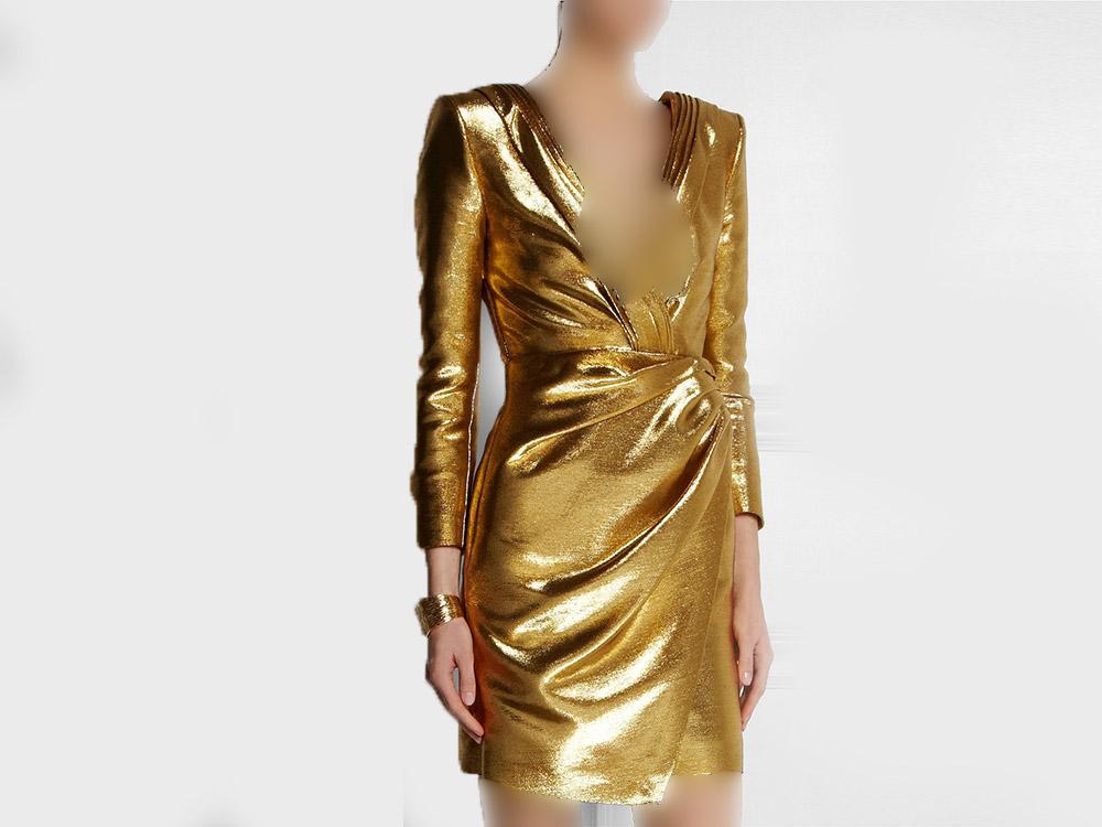 مدل لباس مجلسی طلایی