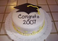 تزیین کیک فارغ التحصیلی