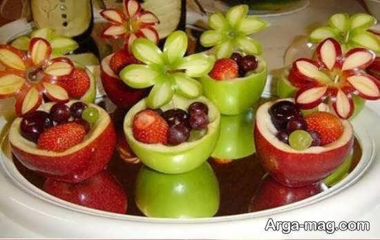 تزیین انگور میوه ی پاییزی خوش طعم