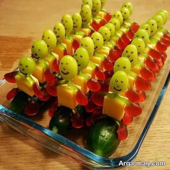 نمونه هایی لاکچری و زیبا از تزیین انگور