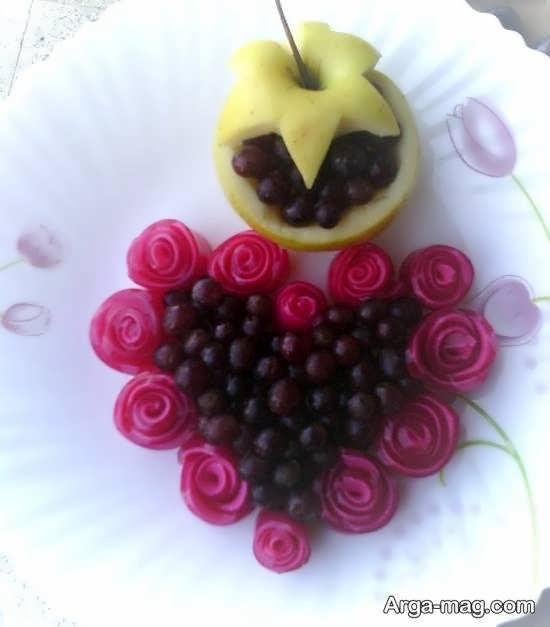 نمونه هایی جذاب و خیره کننده تزیین انگور