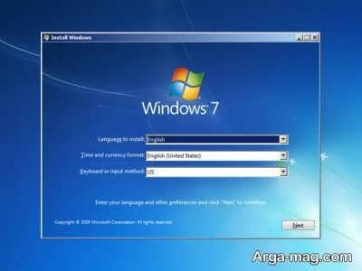 نصب ویندوز ۷ با فلش