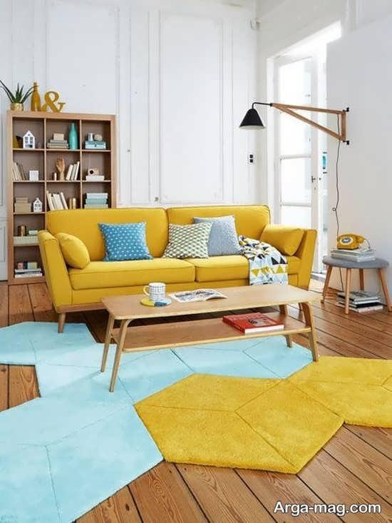 گالری دکوراسیون رنگ لیمویی