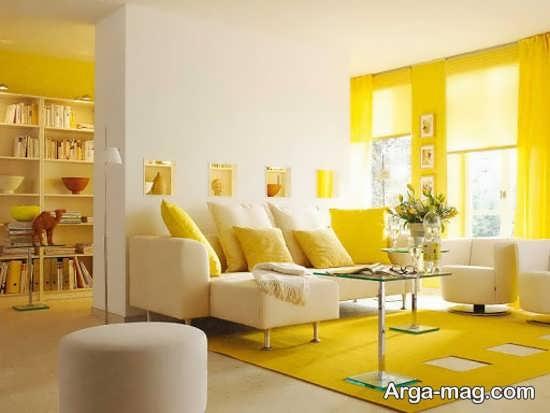 زیبا سازی شیک رنگ لیمویی