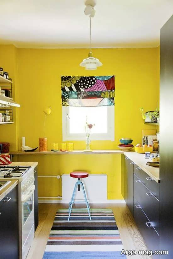 دکوراسیون بسیار شیک و متفاوت رنگ لیمویی