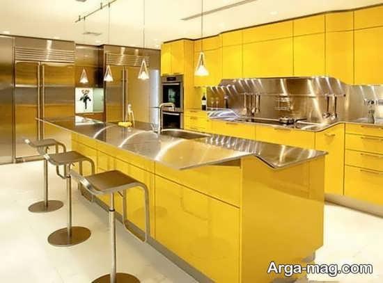 انواع باحال طراحی رنگ لیمویی و خردلی