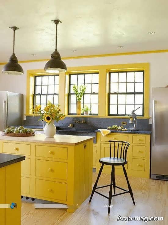 طراحی مدرن رنگ لیمویی
