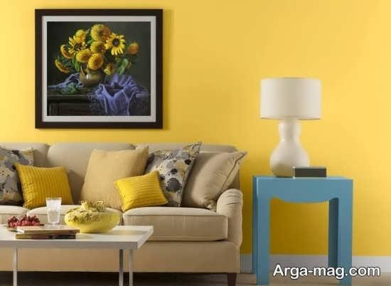 گلچین دکوراسیون رنگ لیمویی