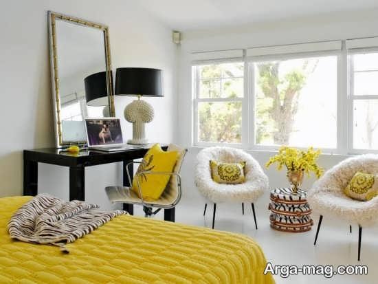 دکوراسیون رنگ لیمویی زیبا و خاص