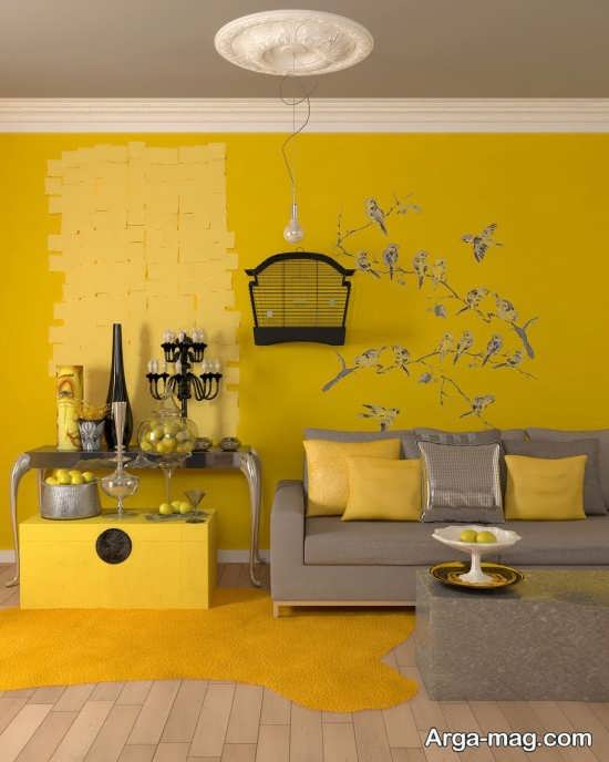 انواع زیبا سازی رنگ لیمویی