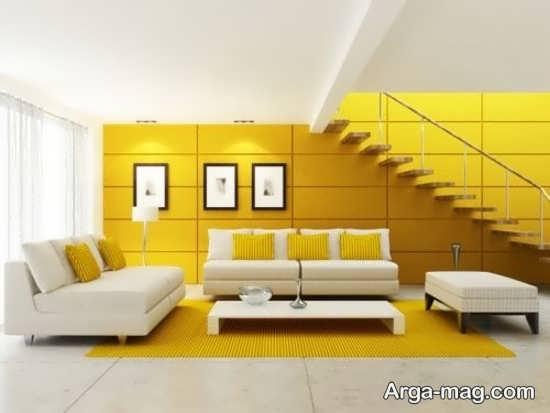طراحی شیک رنگ لیمویی