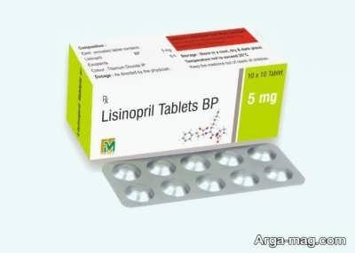 اشکال دارویی قرص لیزینوپریل