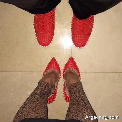 ست کفش زنانه و مردانه قرمز
