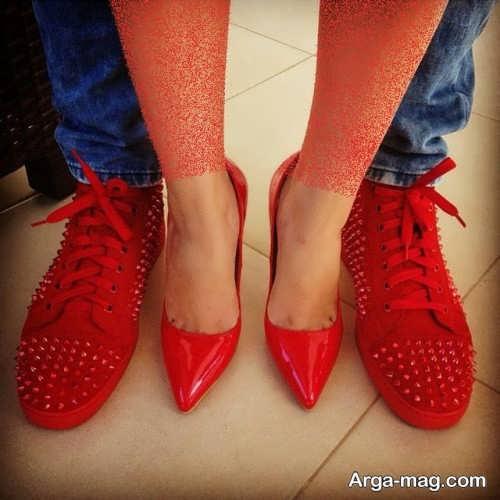 کفش قرمز زنانه و مردانه