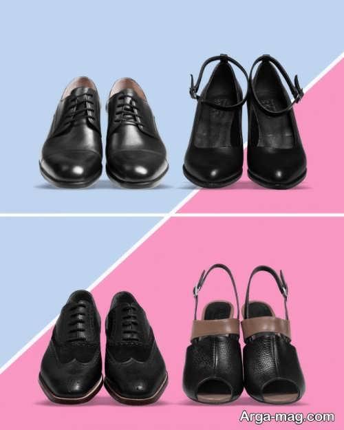 طرح های ست کفش مردانه و زنانه
