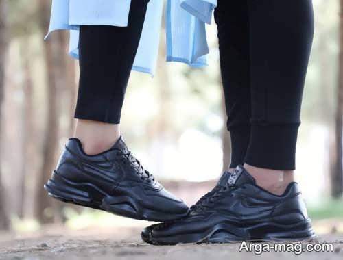 ست کفش مشکی اسپرت مردانه و زنانه