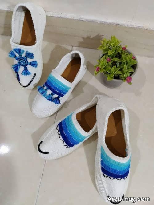 ست کفش دو رنگ زنانه و مردانه