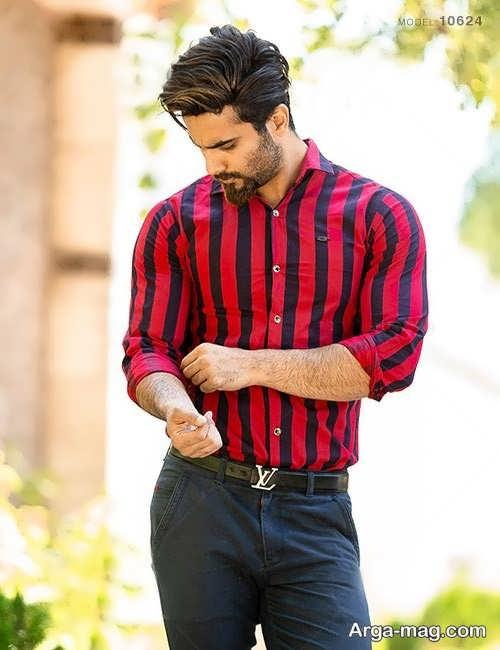 پیراهن راه راه مردانه زیبا و شیک