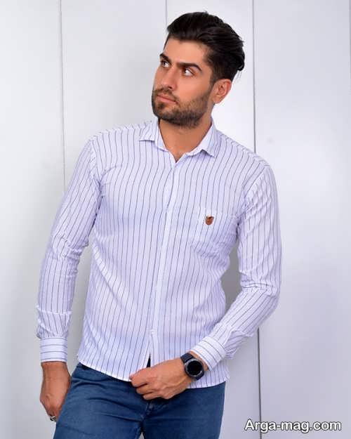 مدل پیراهن راه راه مردانه زیبا و شیک