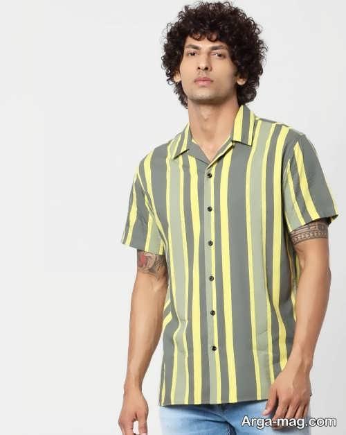 مدل پیراهن راه راه مردانه شیک و زیبا