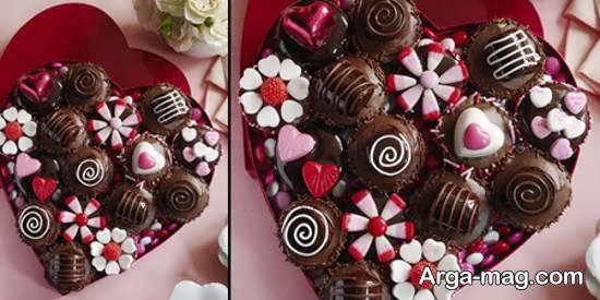 انواع نمونه های تزیین شکلات برای هدیه دادن