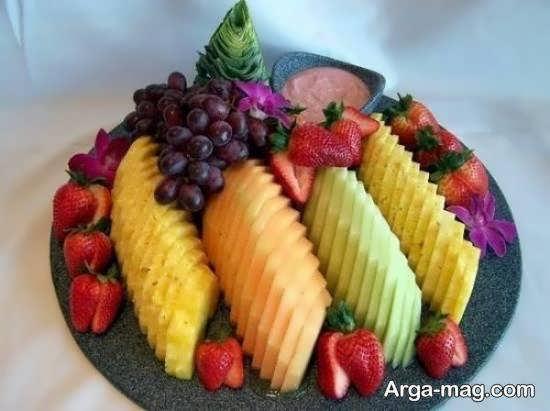 انواع ایده های تزیین میوه پوست کنده