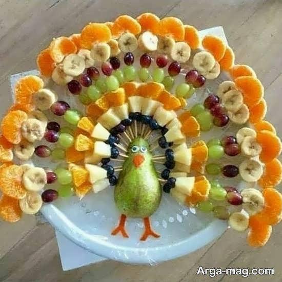 تزیین میوه پوست کنده