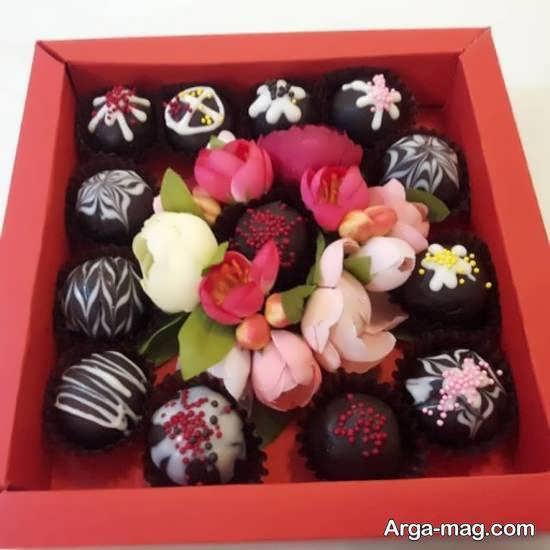 نمونه هایی ایده آل و ناب از تزیین شکلات برای هدیه دادن