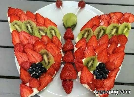 تزیینات میوه پوست کنده