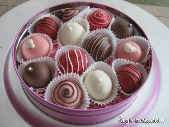 تزیینات شکلات برای هدیه دادن