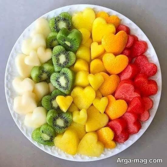 الگوهایی متفاوت از تزیین میوه پوست کنده