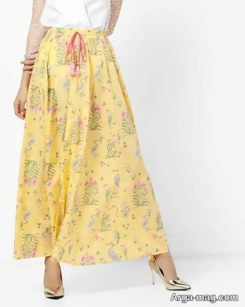 مدل دامن زرد و تابستانه