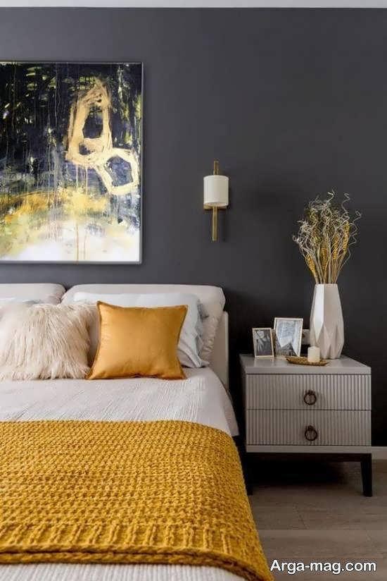 ایده هایی منحصر به فرد از طراحی اتاق خواب طوسی