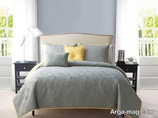 طراحی منحصر به فرد اتاق خواب طوسی