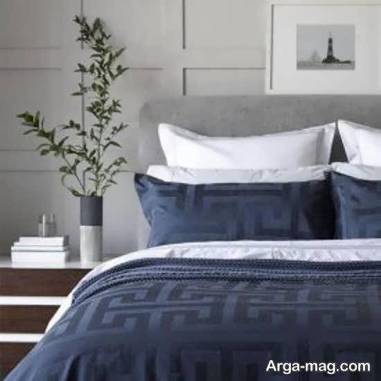 الگوهای متفاوت طراحی اتاق خواب طوسی