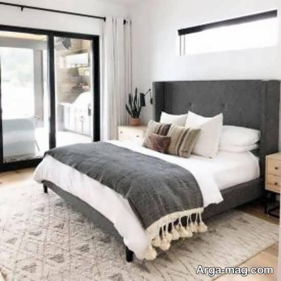 انواع نمونه های شیک برای چیدمان اتاق خواب طوسی