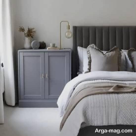 نمونه های دیزاین اتاق خواب طوسی