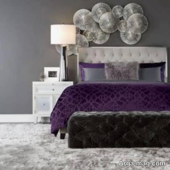 تصاویر زیبای دیزاین اتاق خواب طوسی