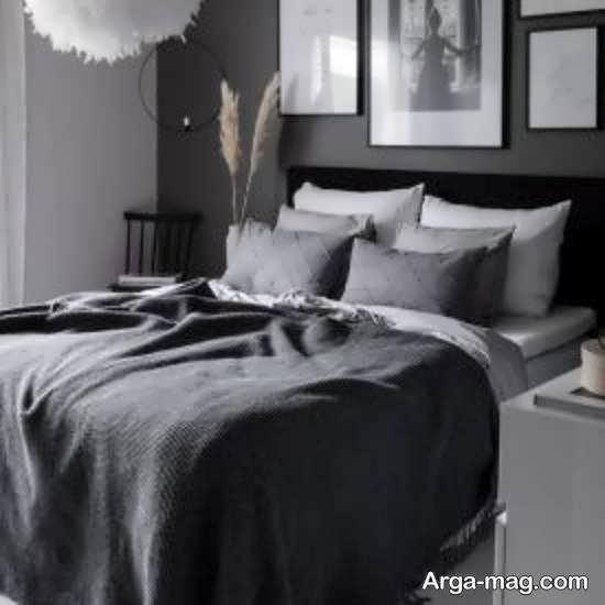 انواع طراحی های مدرن اتاق خواب طوسی