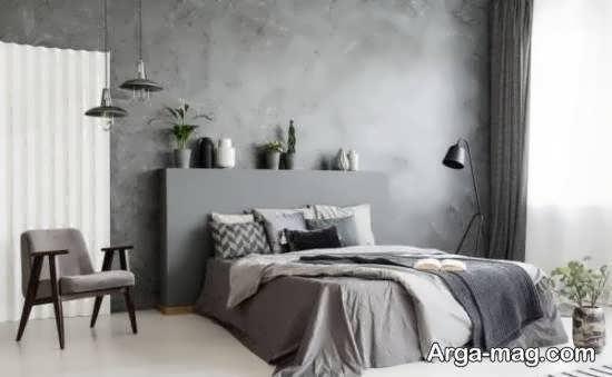 انواع نمونه های دیزاین اتاق خواب طوسی