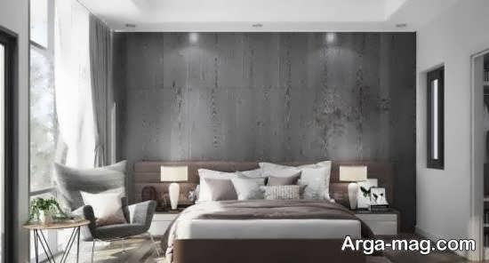 انواع الگوهای مدرن و گرم طراحی اتاق خواب طوسی