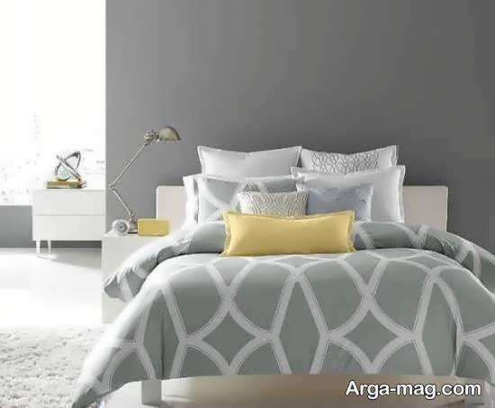 ایده هایی زیبا از چیدمان اتاق خواب طوسی