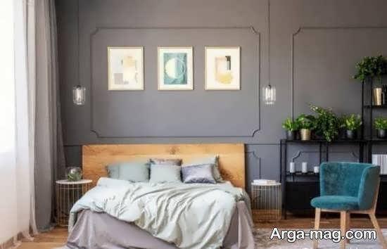 دیزاین های مجلل اتاق خواب طوسی